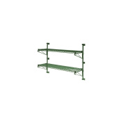 Focus Foodservice FWPS13GN Wire Shelving - 33cm H Green Epoxy Shelf Wall Mount Post Set