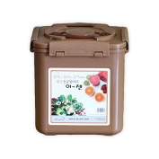 Premium Kimchi, Sauerkraut Fermentation and Storage Container with Inner Vacuum Lid, Sandy Brown - 6.1l