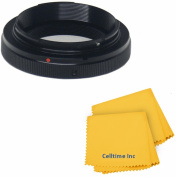 T Lens Mount Ring Adapter for Sony Alpha /Minolta AF Cameras Body + Celltime Elite Cleaning Cloth