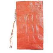 Orange 21 Bags Of Polypropylene Sand Bags With Ties & UV Protection