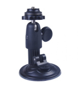 RetiCAM® Windshield Mount with Ball Head - Suction Cup Car Mount for Cameras, Camcorders, GPS, ActionCam or Smartphone Adapters