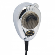 RoadKing RK564PCH Chrome 4-Pin Dynamic Noise Cancelling CB Microphone with Black Flex Cord