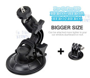 "GoPro Car Suction Cup Mount for Hero 1 2 3 + HD ""HEAVY DUTY* Windscreen Window Glass Holder 360 degree Stand + Tripod Adapter Digi-fun®"