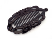 Black Banana Fish Clip Hair Clip Hair Grip Claw Wide Butterfly design 14 cms