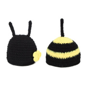 JTC Newborn Hat Girl Boy Cap Crochet Knit Beanie Baby Costume Clothing Set Infant Photo Photography Prop Outfit Snail Fox Bee Dinosaur 5 Style 0-12M