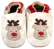 MiniFeet Soft Leather Baby Shoes, Reindeer