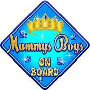 TORQ MUMMYS BOYS Baby on Board Car Window Sign