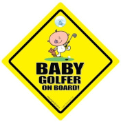 Baby Golfer Car Sign, Baby Golf, Car Sign, Baby On Board Sign, baby on board, Novelty Car Sign, Baby Car Sign, Golf Car Sign