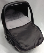 Universal Car Seat Footmuff To Fit Maxi Cosi Pebble Grey