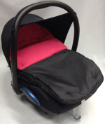 Universal Car Seat Footmuff To Fit Maxi Cosi Cabrio Dark Pink
