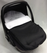 Universal Car Seat Footmuff To Fit Maxi Cosi Pebble Off White