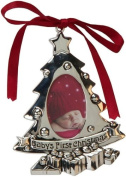 Baby's First Christmas Tree Silver Plated Photo Frame Ornament/Decoration Keep Sake Gift