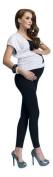 Winter Women Maternity Cotton Front Panel Over Bump Full Ankle Length Leggings