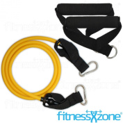 Resistance Band Set With Handles - 3 Piece Resistance Bands Set - Heavy Duty Yoga Pilates Abs - Home Gym Ultimate Fitness Workout Exercise Cords Tubes fitnessXzone®
