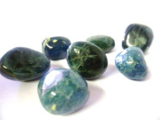 Tumbled Blue Apatite Tumble Stone - A Grade Quality Crystal - Connexion with spirit guides & past life lessons - Free Postage!