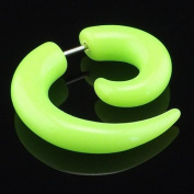 1 x Green Imitation Fake Spiral Tapers Ear Expanders 16 Gauge