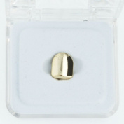 Grillz - 24k Gold Plated - Single Hip Hop Bling Tooth - High Polish Finish