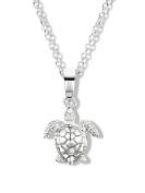 Jo for Girls Sterling Silver Turtle Pendant on 35.5cm Chain