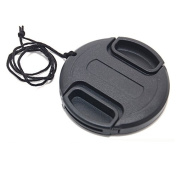 JJC 49mm Plastic Snap-on Lens Cap with lens cap keeper for Cameras and Camcorders - Canon, Leica, Nikon, Olympus, Panasonic, Pentax, for for for for for for for for for Samsung , Sigma, Sony etc.