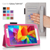 MOFRED® Hot Pink Samsung Galaxy Tab 4 20cm Case-MOFRED® Retail Packed Executive Multi Function Standby Case For Samsung Galaxy Tab 4 20cm Tablet + Screen Protector + Stylus Pen (Available in Mutiple Colours)
