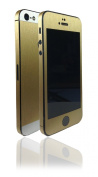Two Tone Brushed Metal Gold Aluminium Skin Sticker Wrap cover for iPhone 5 ...NOT CASE