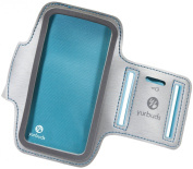 Yurbuds Female Athletic Sports Armband Pouch Case Cover for iPhone 5/5S - Aqua Blue/White