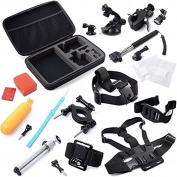Atdoshop(TM) Storage Carry Bag Chest Strap Holder Accessories Set for Gopro Hero 2 3 3+