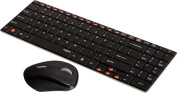 Rapoo 9060 Wireless Keyboard with Mouse - Black