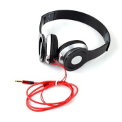 Buyincoins 3.5mm Stereo Sport Headphone Headset Earphone for iPhone 5 Samsung HTC Laptop PC BLACK