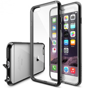 iPhone 6s Plus Case, Ringke [Fusion] Crystal Clear PC Back TPU Bumper w/ Screen Protector [Drop Protection/Shock Absorption Technology][Attached Dust Cap] For Apple iPhone 6s Plus / 6 Plus - Black…