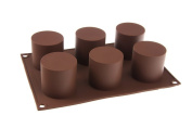 6 cell CYLINDER TUBE Mini Wedding Cake Silicone Bakeware Mould Mould Chocolate