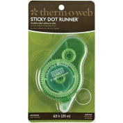 Therm-o-Web 20m Sticky DS Permanent Sticky Dot Runner for Crafting, Clear