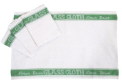 A Pack Of Four Linen Union Glass Cloths (Tea Towels) in Green