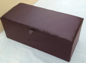 Extra Large Brown Faux Leather Ottoman Toy Storage Blanket Box Ottoman Trunk