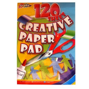 A4 Creative Mixed Colour Paper Pad - Art & Crafts - 120 Sheets - Size - 297mm x 210mm