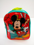 Disney Mickey Mouse Backpack. Green & Red