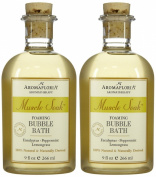 Aromafloria Muscle Soak Bubble Bath, Eucalyptus, 270ml, 2 pk
