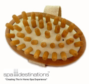 "Cellulite Massage & Circulation Brush by Spa Destinations® ""Creating The In Home Spa Experience"" Best Quality! Best Value!"