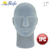 Male 28cm STYROFOAM FOAM Grey Velvet Like MANNEQUIN MANIKIN head wig display hat glasses 1PC