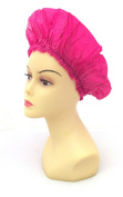 XL X-Large Shower Cap in Hot Pink, Could Also Be Used in Deep Hair Conditioning, Hair Protection, Full Size 50cm Extra Large Water-Proof Shower Cap with Comfortable Elastic Band