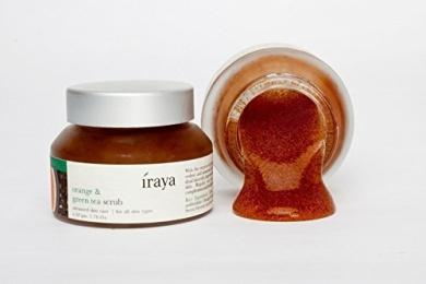 Iraya - Orange & Green Tea Scrub - Toning Citrus Exfoliator - 50g