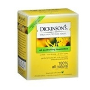 Dickinsons Original Witch Hazel Oil Controlling Towelettes, 20 ct