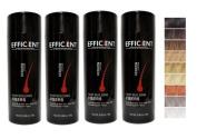 4 OF EFFICIENT Keratin Hair Building Fibres, Hair Loss Concealer Net Wt. 28gm / 30ml