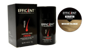 EFFICIENT Keratin Hair Building Fibres, Hair Loss Concealer Net Wt. 12gm / 10ml