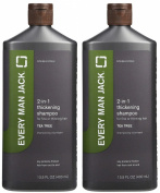 Every Man Jack 2-in-1 Thickening Tea Tree Shampoo plus Conditioner, 400ml, 2 pk