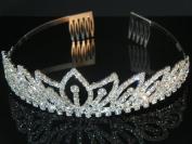 Wedding Crown, Bridal Tiara Rhinestone Crystal Crown C18