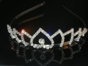 Wedding Crown, Bridal Tiara Rhinestone Crystal Crown C17