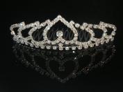 Wedding Crown, Bridal Tiara Rhinestone Crystal Crown C15