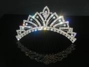 Wedding Crown, Bridal Tiara Rhinestone Crystal Crown C7