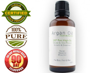 100% Moroccan Argan Oil - 50ml - All-Natural, Virgin, 100% Pure and Organic - Larger Bottle - Anti-Ageing, Anti-Wrinkle, Anti-Oxidant - Prevents Frizz and Increases Shine and Silkiness - Natural Moisturiser - 100.  No Questions Aske ..